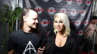ASHLEY DZERIGIAN CHRIS REEVE of FILTER SOUNDCHECK LIVE LUCKY STRIKE LIVE 3/17/2016