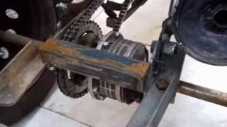 Triciclo Caseiro ( Detalhes do eixo traseiro)