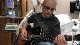 Playing his guitar from Shakey Graves in the hospital