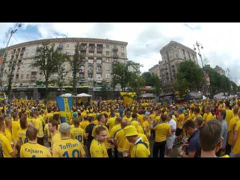 2012-06-15, Euro Footbal Cup 2012, Kiev, Ukraine, fan zone, England, Sweden, Sverige
