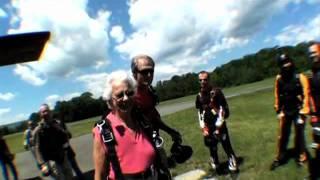 Skydivin' granny
