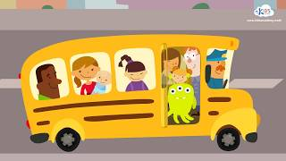 The Wheels On The Bus | Children's Song  - Cartoon Animation Rhymes & Songs for Children