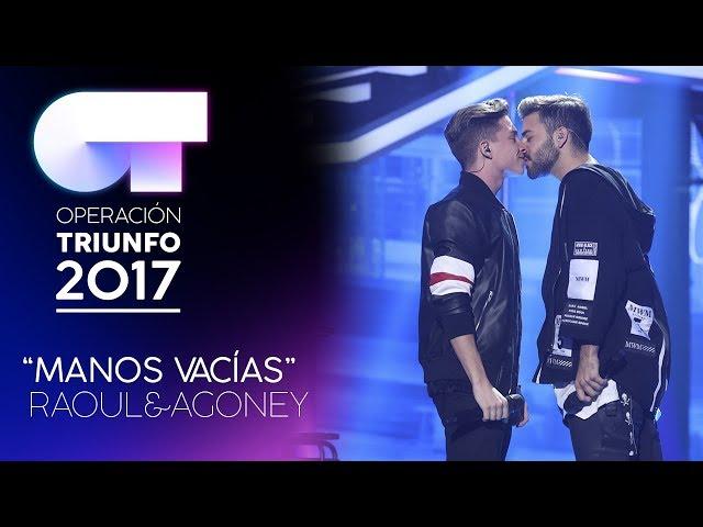 Vídeo de Agoney cantando Manos Vacías con Raoul