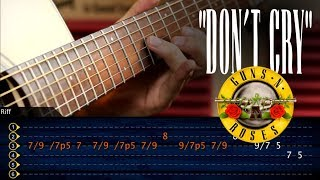Don't Cry Solo | Guns 'N Roses | Acustico Guitarra Cover Tutorial