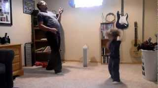 Father and Son jammin' to Jimi Hendrix