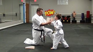 Little Dragon's First Karate Belt Test