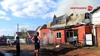 В Николо-Березовке в пожаре сгорел жилой дом