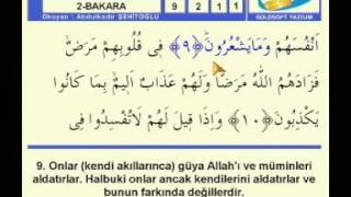 Kur'an- ı Kerim Hatmi Ve Türkçe Meali Bakara suresi 2. sayfa