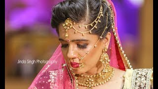 unique entrance made by the bride | Jinda Singh Photography | Best Hindu Wedding Highlight