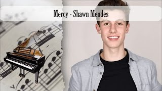 Partitura Mercy - Shawn Mendes Piano