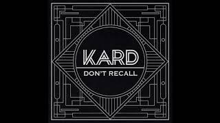 KARD - Don't Recall ( Instrumental)