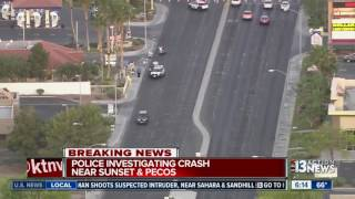 Police investigating crash near Sunset & Pecos