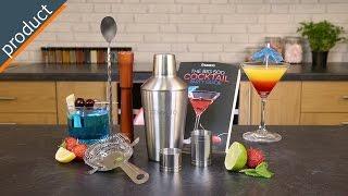 Savisto 7 Piece Manhattan Cocktail Set & Recipe Book