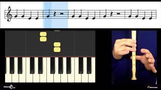 Sol Mi Blues - Peça para flauta de bisel, de José Carlos Godinho