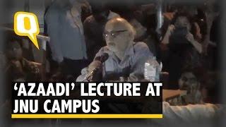 Subaltern Studies Scholar Partha Chatterjee Lectures Students on 'Azaadi'