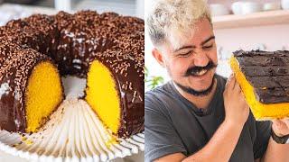 BOLO DE CENOURA COM MUITO CHOCOLATE   BIGODE NA COZINHA