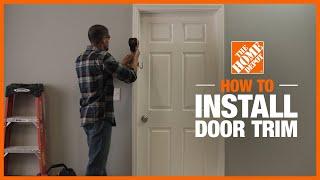 beautiful interior trim on a door
