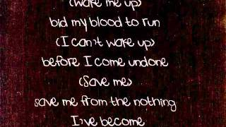 Evanescence - Bring me to life Lyrics