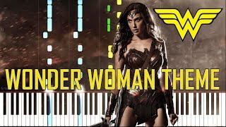 Wonder Woman Theme (Is She With You) - Batman v Superman [Synthesia Piano Tutorial]