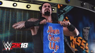 WWE 2K18 mashup: Roman Reigns hace su entrada como John Cena