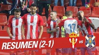 Resumen de Real Sporting vs CD Tenerife (2-1)