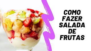 Salada de frutas simples com creme