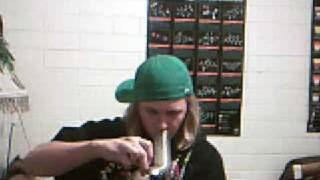 BongToker Hittin Up A Big Bong Rip With Live Background Music.