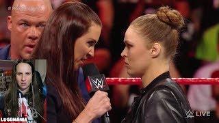 WWE Raw 2/26/18 Stephanie McMahon Apologizes to Ronda Rousey