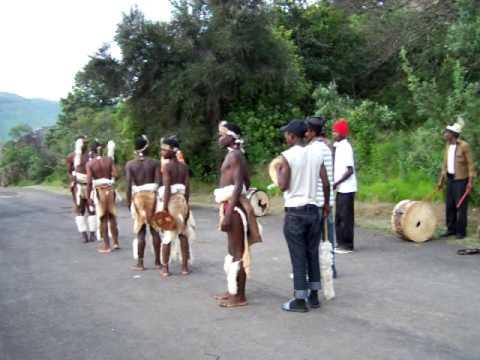 Traditional Zulu Dancers, Drakensburg Mountains
