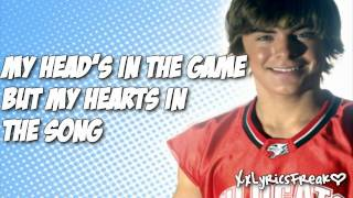 High School Musical 1 - Get'cha Head In The Game  (With Lyrics)