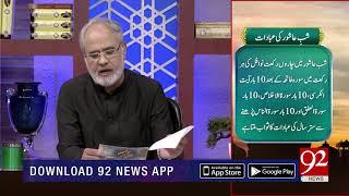 Quote | Hazrat Imam Hussain (AS) | Subh E Noor | 19 Sep 2018 | 92NewsHD