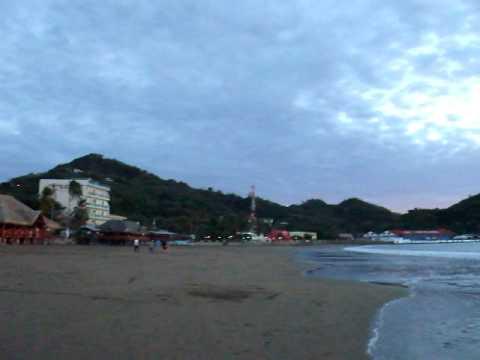 270 view of San Juan Del Sur Nicaragua at sunset