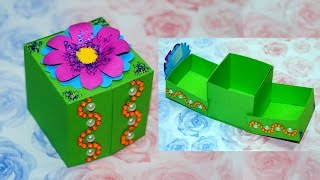DIY paper crafts idea - gift box ideas craft. Gift box making. DIY box gift ideas / Julia DIY
