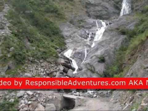 Rupshe chahara. Himalayan Waterfall.