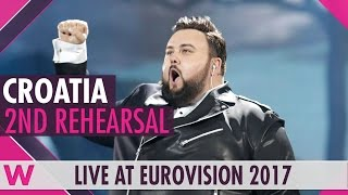 "Second rehearsal: Jacques Houdek ""My Friend"" (Croatia) Eurovision 2017 
