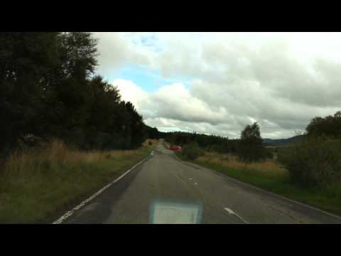 Driving down from Suidhe Viewpoint, Scotland