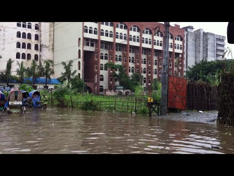 Kazipara , Mirpur Dhaka under water