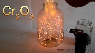 Chemical Volcano and Fire Blizzard with Chromium Oxide! width=