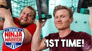 Pro Climber Tries Ninja Warrior *1ST TIME EVER*