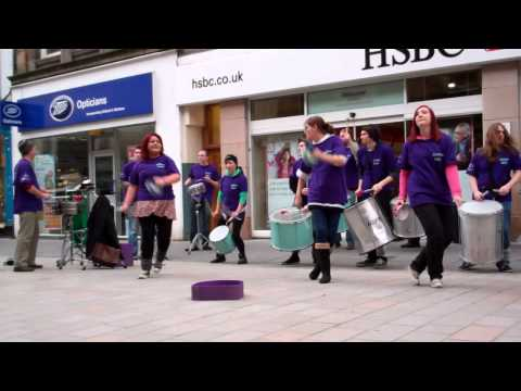 Rhythm Wave Samba Band Christmas Lights Switch On Perth Scotland