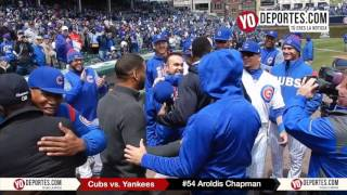 Aroldis Chapman gets championship ring from Chicago Cubs