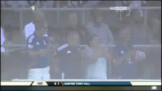 Gautam Gambhir's dismissal 2nd test Mumbai 2012