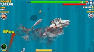 Moby Dick vs 10 Enemy Moby Dick - Hungry Shark Evolution