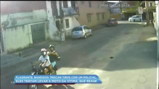 TROCA DE TIRO BANDIDO E POLICIAL