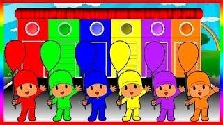 Falando pocoyo cores para as crianças a aprender com cores pocoyo - cores para as crianças a aprende