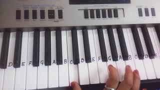 Lag Ja gale | Keyboard piano casio tutorial(instrumental)