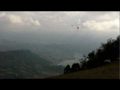 The take off area in Sarankot, Pokhara, Nepal