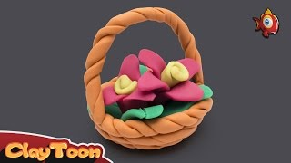 Flower basket | Polymer clay tutorial for kids
