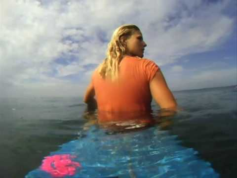 Holly Beck surfing in Nicaragua