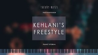 How to Play PARTYNEXTDOOR - Kehlani's Freestyle | Theory Notes Piano Tutorial